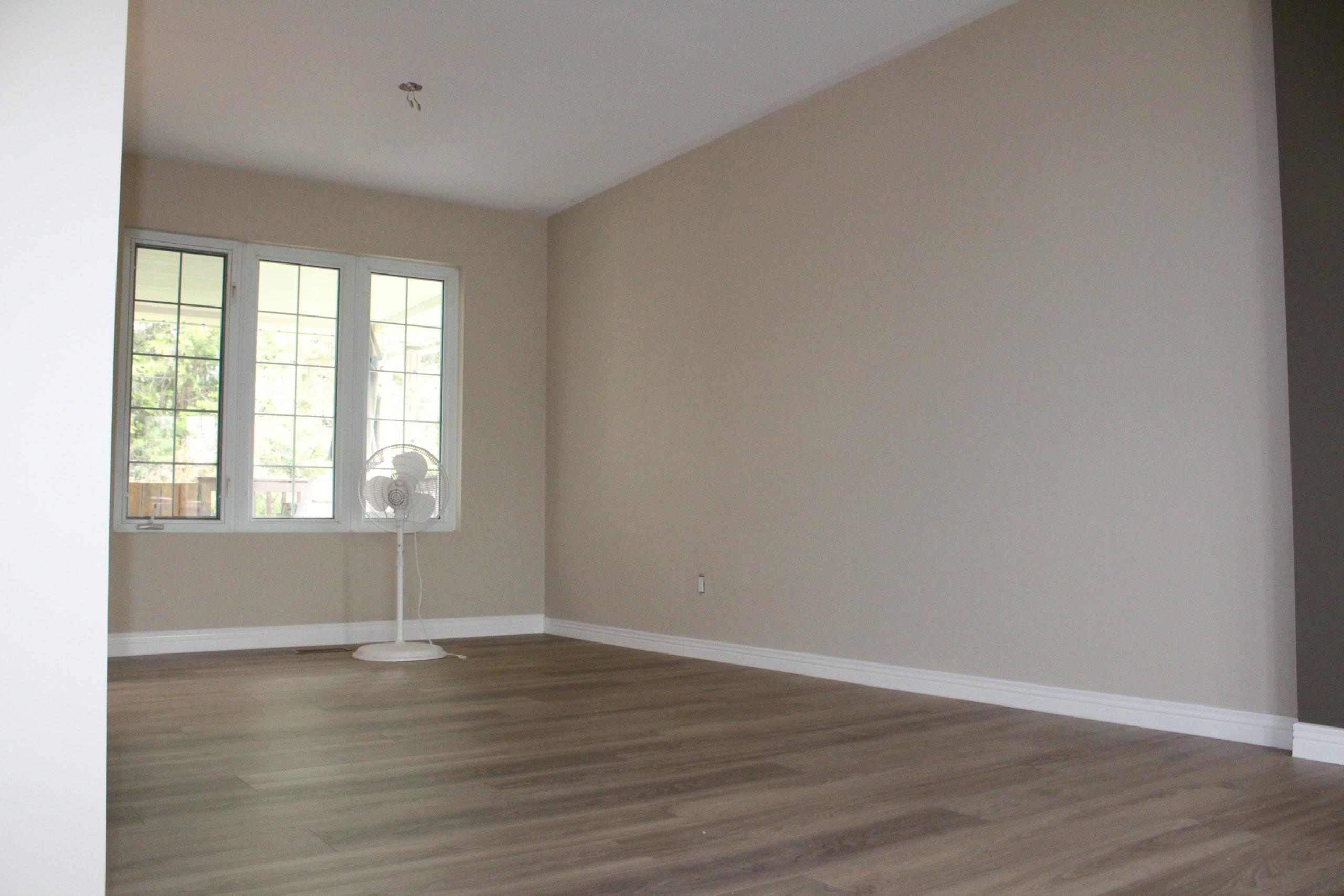 Paint, trim and floor