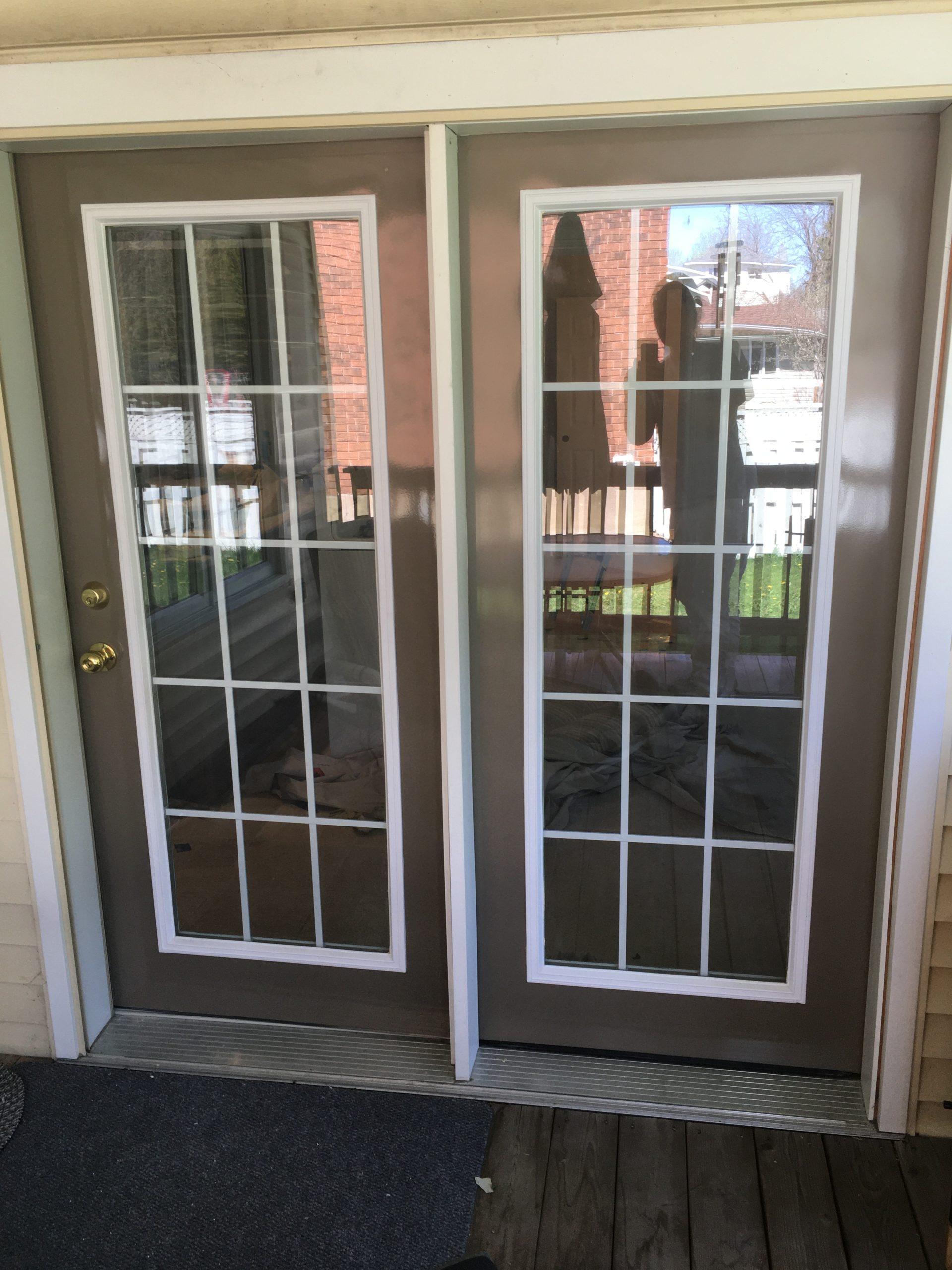 exterior door spraying