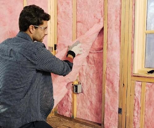 Fiberglass insulation installation